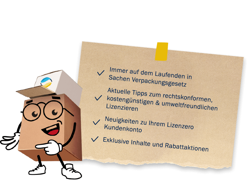Lizenzero Newsletter, News, Tipps, Verpackungslizenz